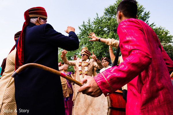 Dhol player during baraat.