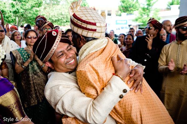 Cheerful Indian baraat photo.