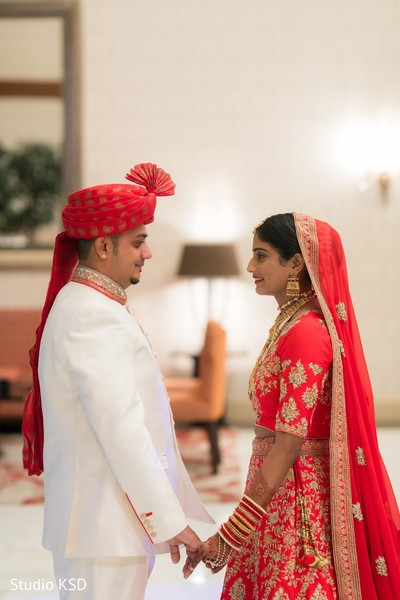 Indian couple's first look