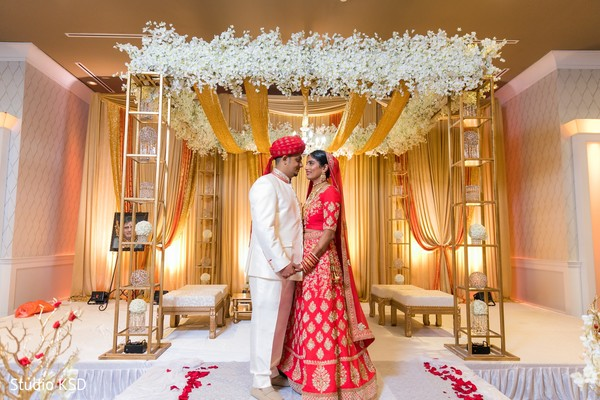 Lovely moment between the Indian couple