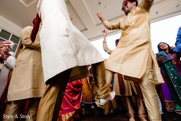 Gorgeous Indian groomsmen baraat dance.