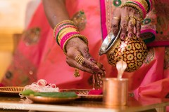 Close up capture of the Indian wedding rituals