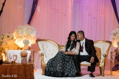 See this dazzling Indian couple posing at the reception venue