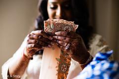 Indian bride getting her Sari.