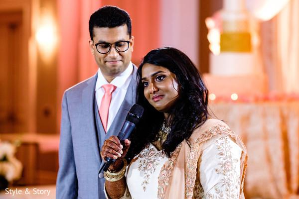 Indian bridal speech moment.