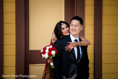 Joyful Indian couple during the photo shoot