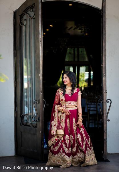 Indian bride at the venue capture