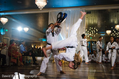 Karate demonstration at the Indian wedding ceremony