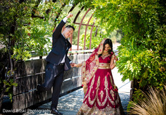 Indian couple taking pictures during the photo shoot