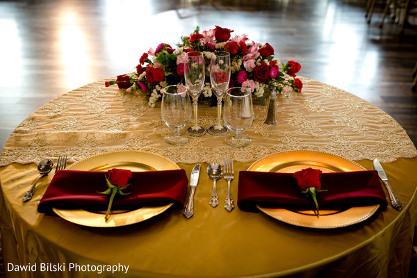 Special table for the Indian newlyweds