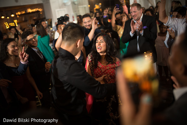 Indian bride and groom having a blast