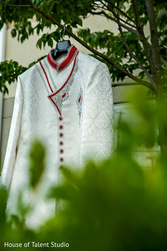 Elegant Indian groom's sherwani.