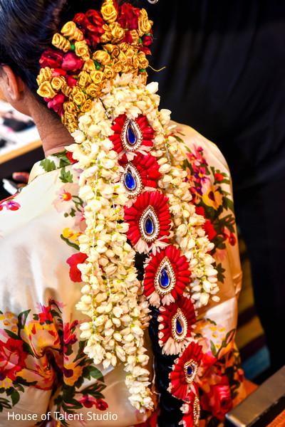 maharani's hair,indian bridal hair stile.