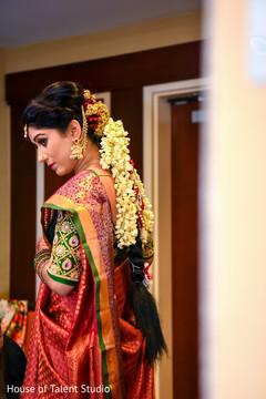 Enchanting maharani ready for wedding ceremony.