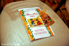 Closeup capture of Indian wedding ceremony guide.
