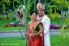 Dreamy Indian couple outdoors portrait.