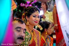Maharani's joyful ceremony moment.