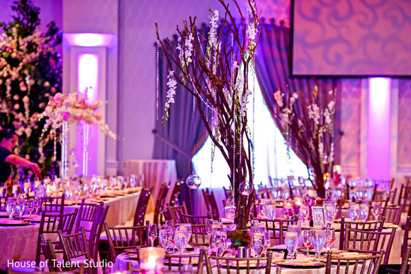 Marvelous Indian wedding table and lights decor.