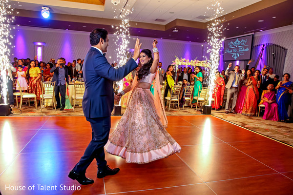 indian bride and groom,indian wedding dance