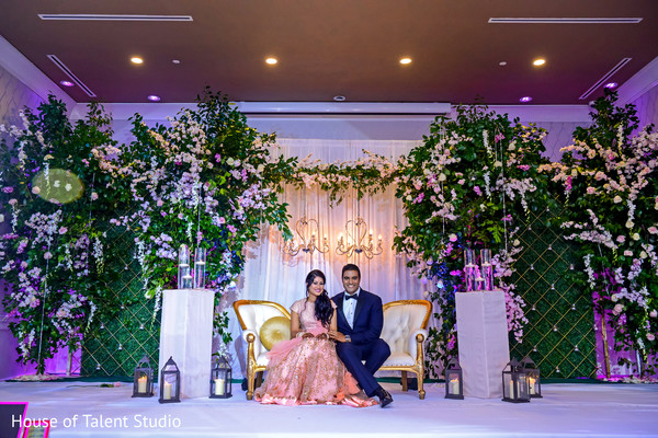 Incredible Indian couple at their reception stage capture.