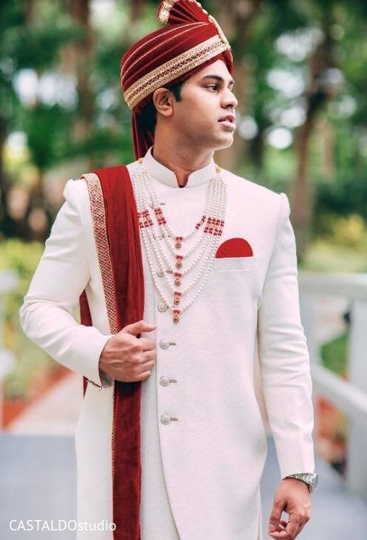 Gorgeous Indian groom ready for baraat.