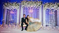 Elegant Indian couple at their photo shoot.
