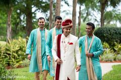 Indian groom with groomsmen fun capture.
