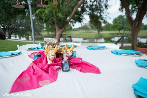 Dreamy Sangeet table decoration.