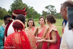 Indian groom during baraat ritual.