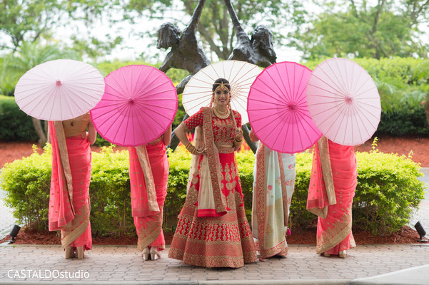 indian bride,indian bridesmaids,indian wedding ceremony fashion