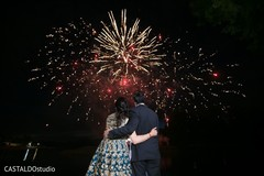 Magnificent Indian wedding fireworks capture.