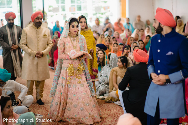 Lovely maharani about to meet the Indian groom at the aisle