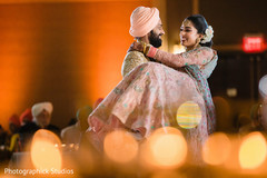 Talented capture of Indian bride and groom at the reception
