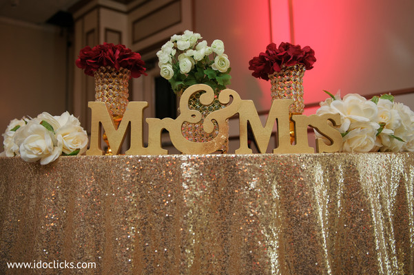 Elegant Indian wedding flowers decor.