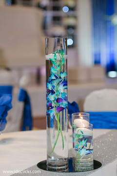 Delicate indian wedding table centerpieces .