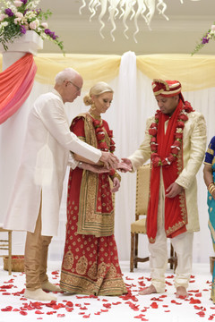 Indian wedding ceremony ritual photo.