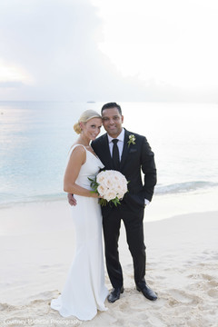 Lovely Indian bride and groom by the beach photo shoot.