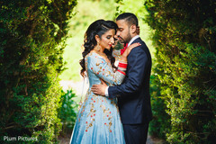 Gorgeous Indian bride and groom outdoors capture.