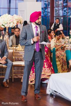 Indian groomsman speech scene.