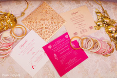 Stunning Indian bride jewelry and invitations photography.