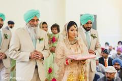 Enchanting Indian bride's entrance.