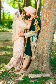Romantic Indian bride and groom  capture.