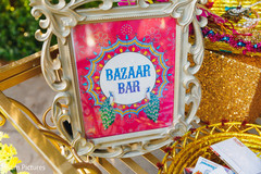 Colorful Indian sangeet sing decoration.