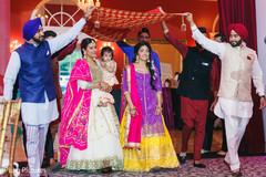 Maharani entering to her sangeet celebration.