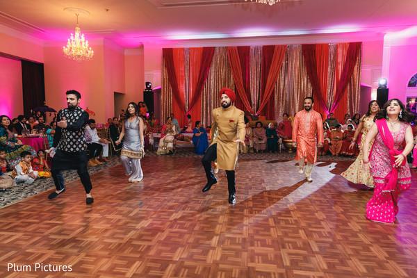 Upbeat Indian sangeet dance.