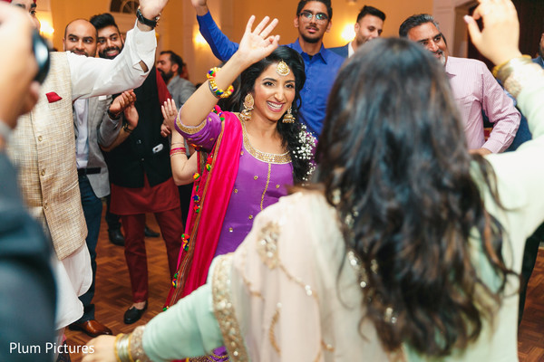 Indian bride pre-wedding sangeet dance performance capture.