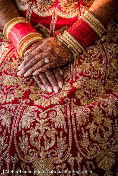 Incredible indian bride henna art.