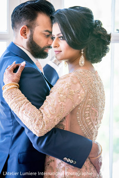 Stunning Indian bride and grooms reception fashion.