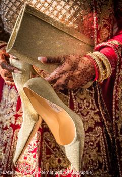 Indian bride wedding accessories.
