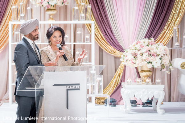 Incredible Indian wedding reception welcome sign.